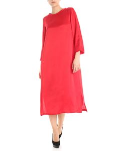 S Max Mara - Red crepe de chine dress