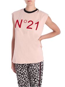 N° 21 - Nude top with logo print