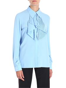 N° 21 - Light-blue shirt with pleated insert