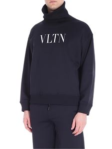 Valentino - Black VLTN turtleneck sweatshirt
