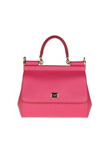 Dolce & Gabbana - Cyclamen color Sicily Dauphine leather bag