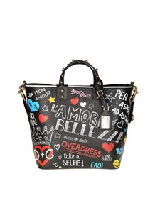 Dolce & Gabbana - Black Beatrice bag with murals print
