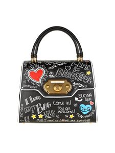 Dolce & Gabbana - Black Welcome bag with Graffiti print