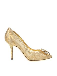Dolce & Gabbana - Golden Bellucci pointy pumps