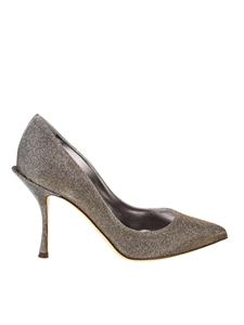 Dolce & Gabbana - Golden and silver Notturno pointy pumps
