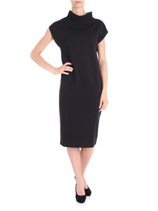 Fuzzi - Black high neck dress