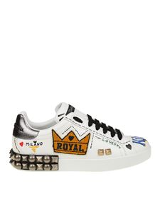 Dolce & Gabbana - Portofino sneakers with lettering and studs