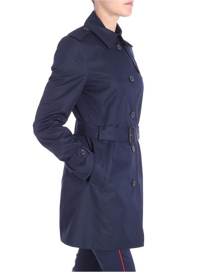 Blue cotton Heritage trench coat