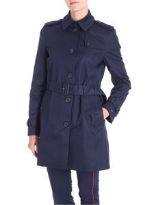Tommy Hilfiger - Blue cotton Heritage trench coat