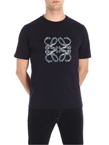 Loewe - Blue t-shirt with applied logo