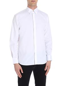 Givenchy - White shirt with branded buttons