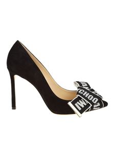 Jimmy Choo - Black Tegan 100 pointy suede pumps