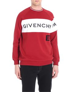 Givenchy - Red sweatshirt with logo