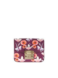 Furla - Purple Metropolis bag with butterfly prints
