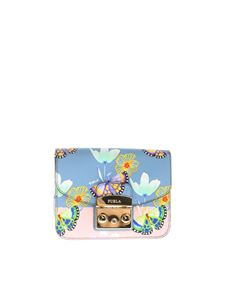 Furla - Metropolis light blue bag with butterflies and flowers