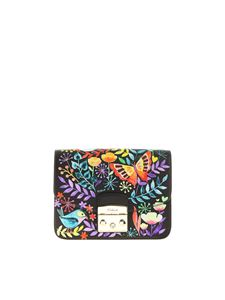 Furla - Metropolis S bag butterfly and robins prints