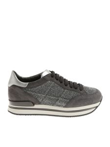 Hogan - H222 gray sneakers with lurex yarn