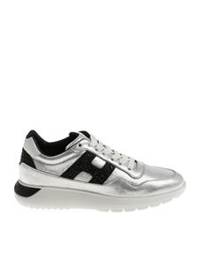 Hogan - Silver H371 Interactive sneakers