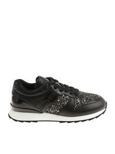 Hogan - Black glittered R261 sneakers