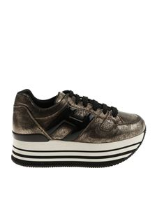 Hogan - H283 black and golden sneakers