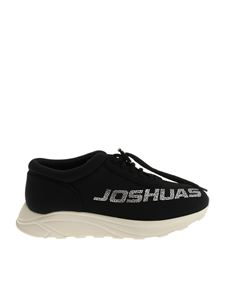 Joshua Sanders - Black sneakers with rhinestones logo