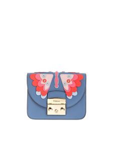 Furla - Light blue Metropolis bag with butterfly detail