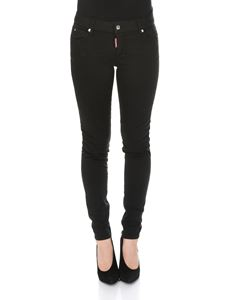 Dsquared2 - Garment Dyed Medium Waist Cropped Twiggy Jeans