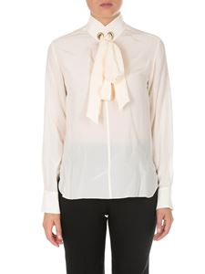 Chloé - Blusa in crepe de chine color crema