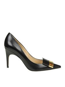 Sergio Rossi - Black Naplys pointy pumps with logo