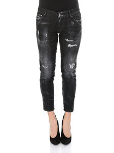 Dsquared2 - Black Icon cropped jeans