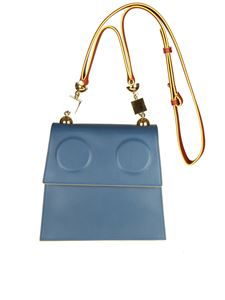 Marni - Marionette blue and burgundy shoulder bag
