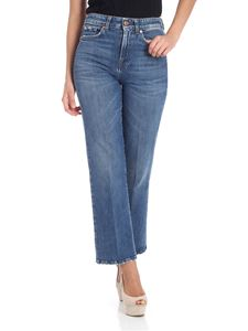 7 For All Mankind - Blue cropped boot vintage hw jeans