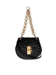 Chloé - Black leather Drew Bijou mini bag