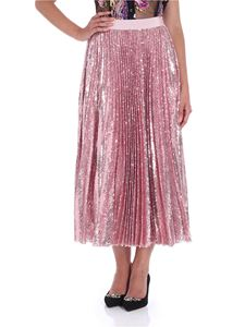MSGM - Pink pleated skirt in sequins