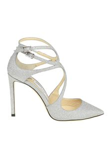 Jimmy Choo - Silver Lancer 100 pointy pumps