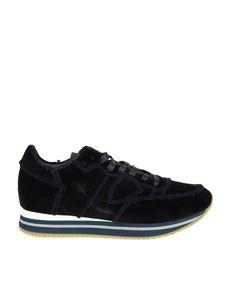 Philippe Model - Sneaker Tropez Higher blu in velluto