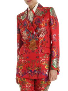 Etro - Red double-breasted jacket