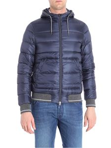Herno - Blue and grey quilted down jacket