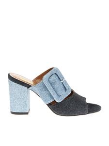 Paris Texas - Blue and light blue glittered sandals