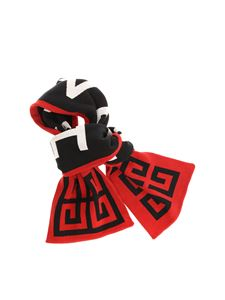 Givenchy - Black red and white 4G scarf