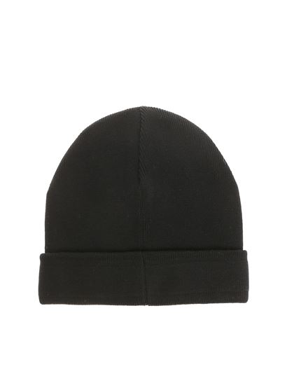 Givenchy - Black knit cap with logo embroidery