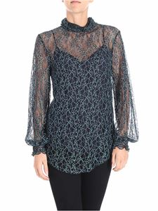 See by Chloé - Black and light blue lace top