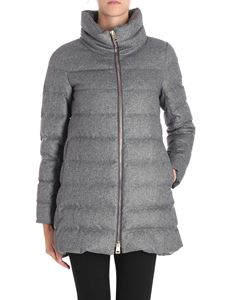 Herno - Cashmere and silk grey down jacket