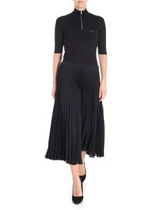Prada - Black dress with knitted top