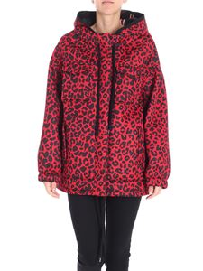 N° 21 - Red animalier over fit jacket