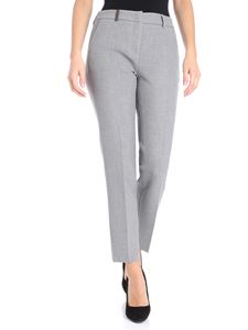 Peserico - Melange gray crop trousers
