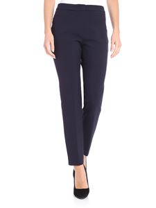 Peserico - Blue Milano fabric trousers