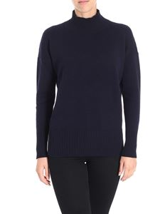 Peserico - Dark blue turtleneck pullover