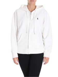 POLO Ralph Lauren - White sweatshirt with embroidered logo