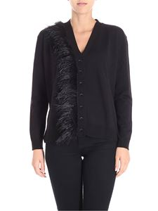 Blugirl - Black cardigan with feathers